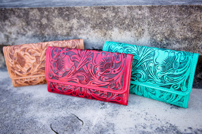 Women's Floral Leather Wallet