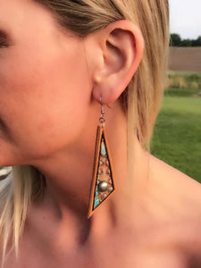 Elongated Triangle Earrings
