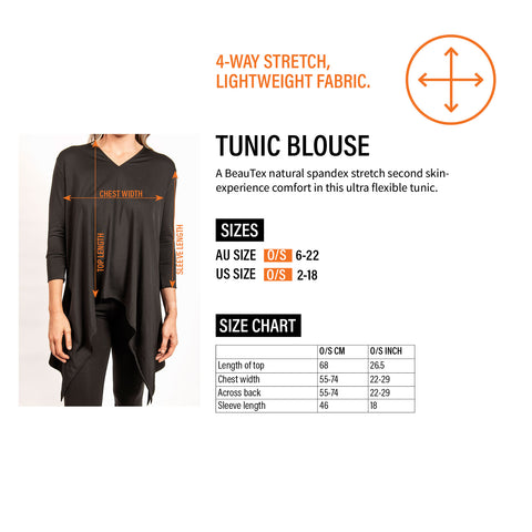Beautex-size-guide-v-neck-hairdressing-tunic-blouse