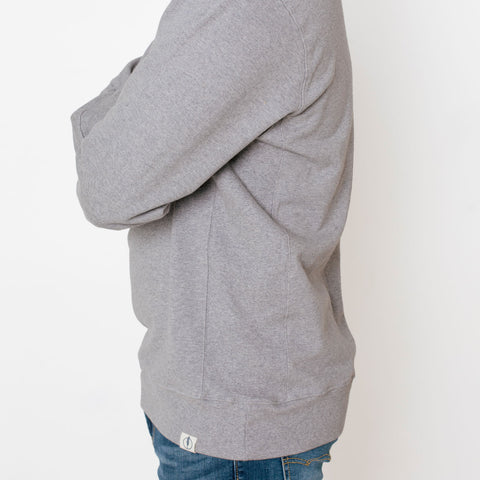 gray crew neck sweatshirt in slim tall and extra tall sizes