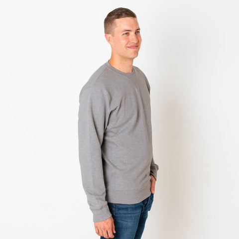 Gray Crew Neck Sweatshirt in tall and extra tall