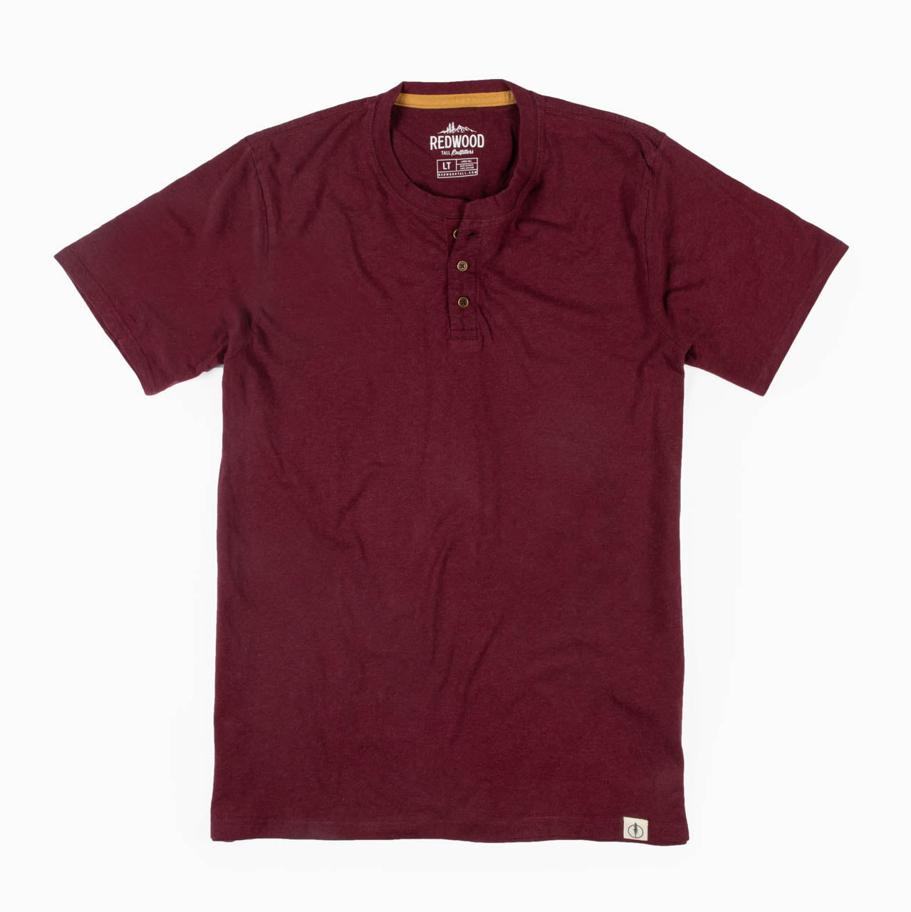 Short Sleeve Tall Henley T-Shirt (Also Available in Extra Tall)