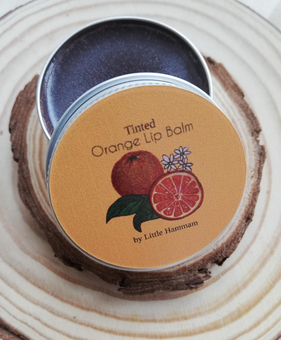 Tinted Orange Lip Balm