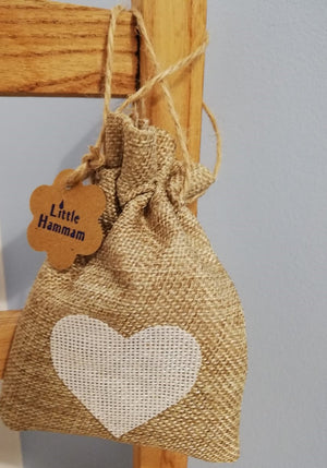White heart Lavender Bag