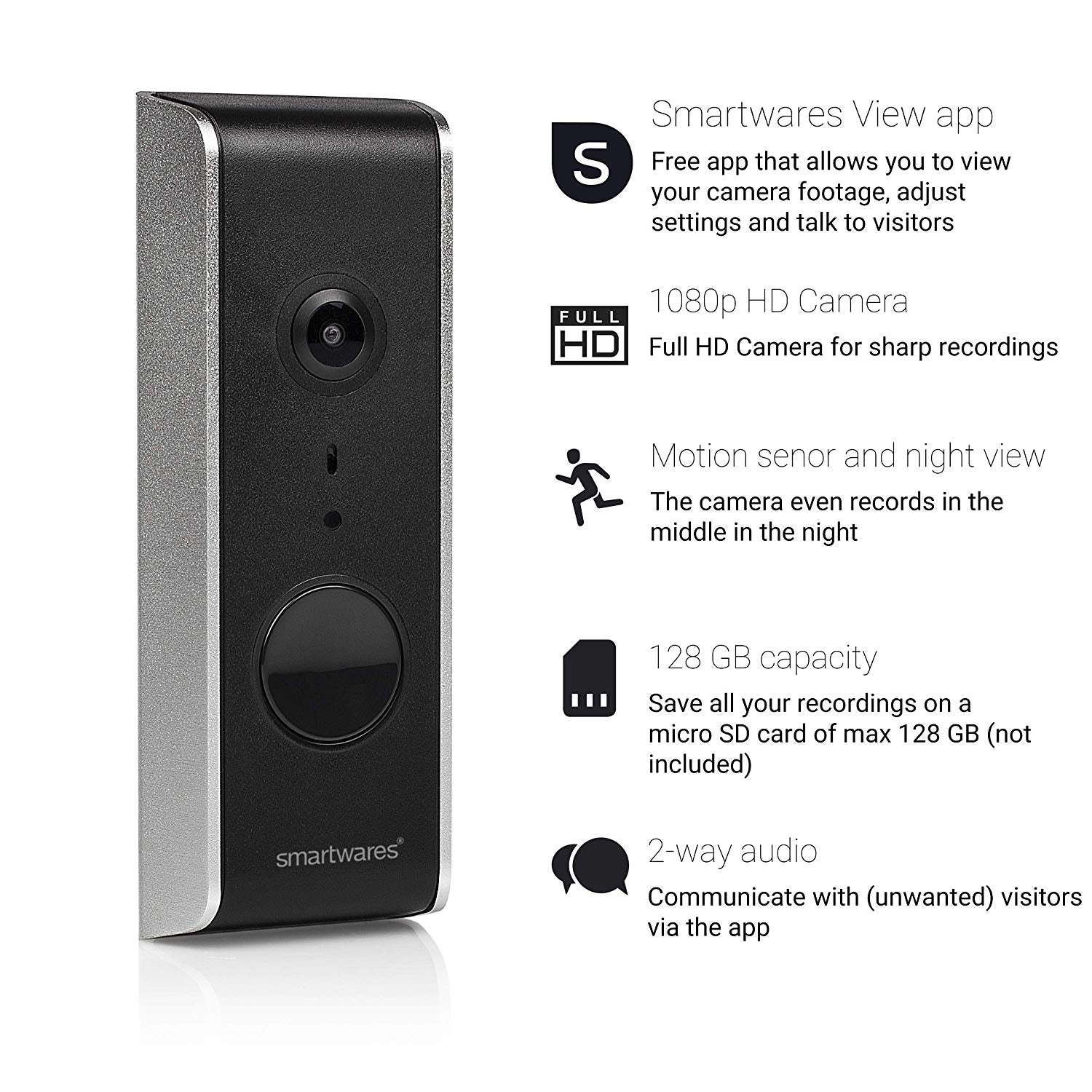 Byron WiFi Video Doorbell - wired