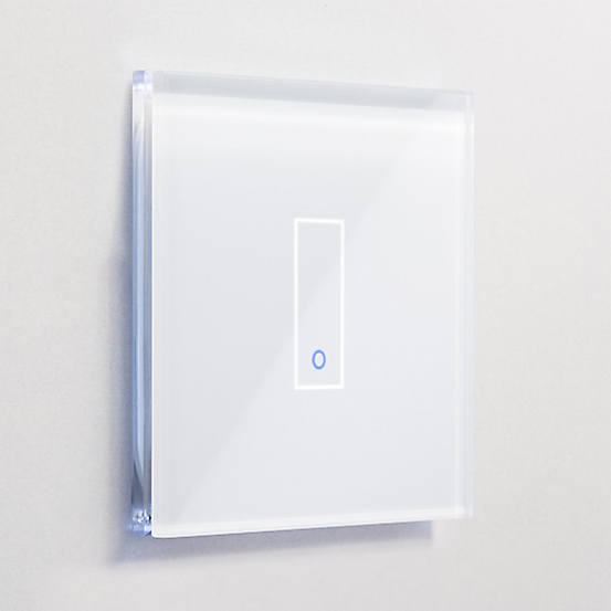 Iotty Smart Switch Rectangular Model E, 1 Gang - White