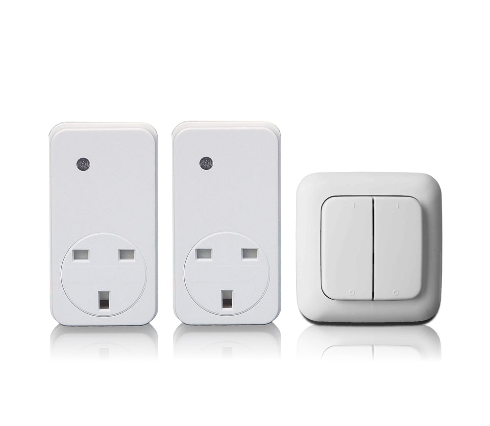 Smarthome Twin Remote Control Sockets and 2 Gang Wall Switch