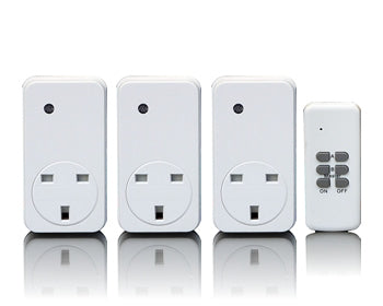 Smarthome Remote Control 3 Pack 1000W Socket Kit, White