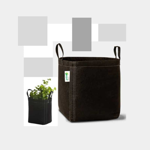 Image of GeoPot Fabric Pot with handles