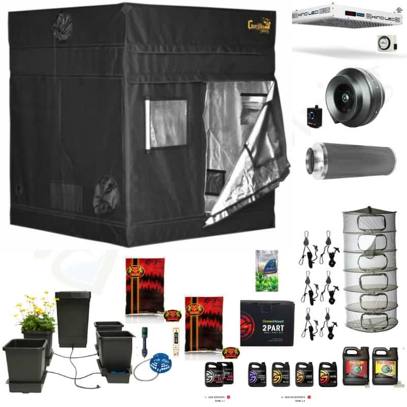 Deluxe 5 foot by 5 foot grow room complete kit