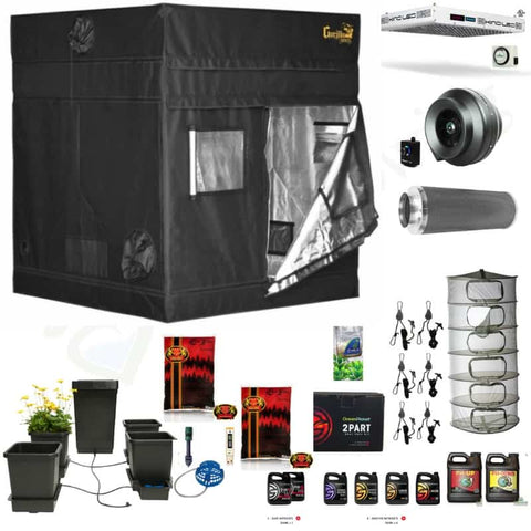 Image of Deluxe 5 foot by 5 foot grow room complete kit