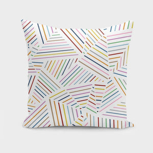 Ab Linear Rainbow Throw Pillow Cover - the-cured-company