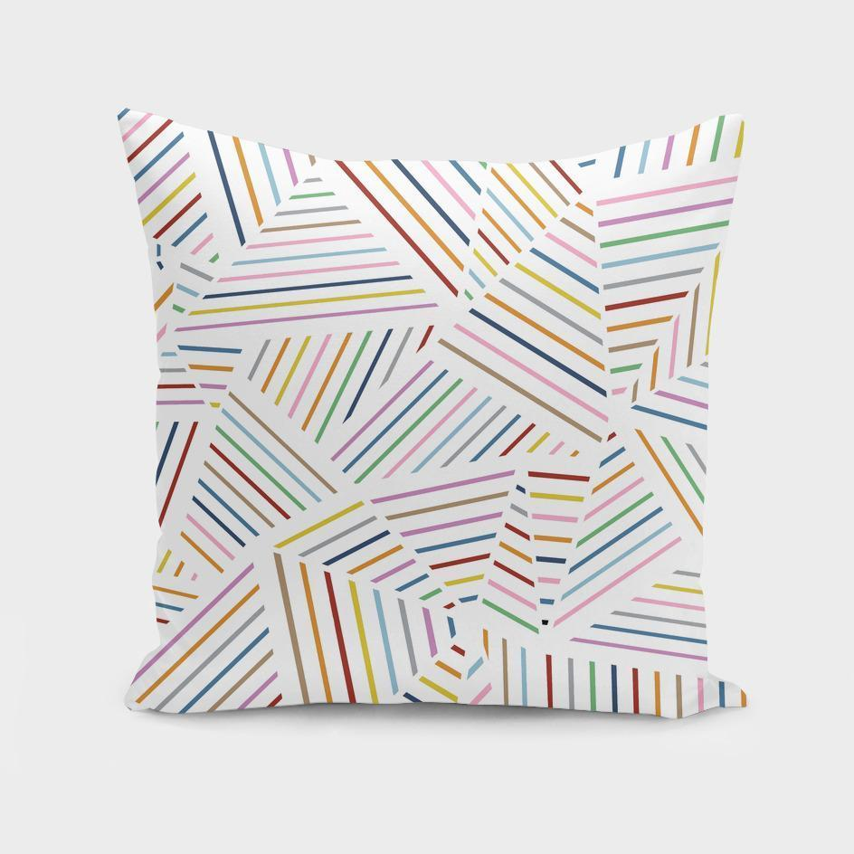 Ab Linear Rainbow Throw Pillow Cover - The Cured Company