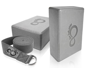 Live Infinitely Yoga Blocks and Strap Set - The Cured Company