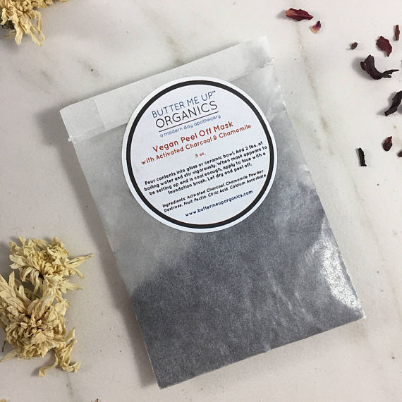 Vegan activated charcoal peel off face mask - the-cured-company