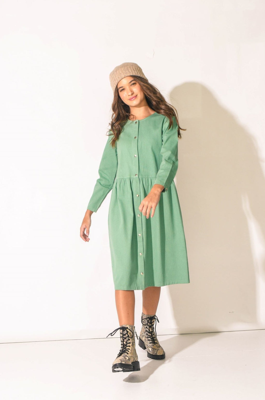 Snap Dress, Mint