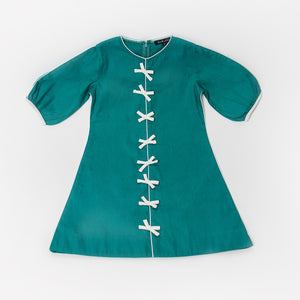 The Bow Dress, Teal