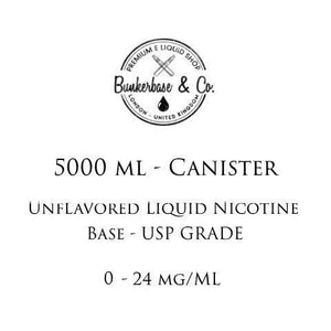 5000 ML Canister unflavored Nicotine Base 3 - 24 mg