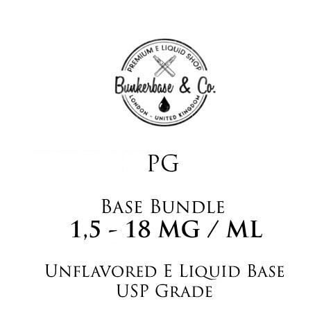 500 - 1000 ml PG Nicotine Base Bundle 3 - 18 MG / ML