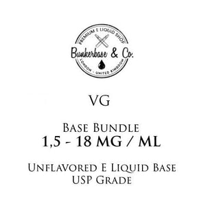500 - 1000 ml VG Nicotine Base Bundle 3 - 18 MG / ML
