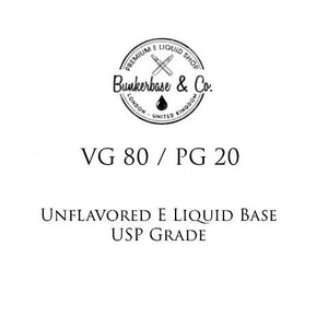 VG 80 / PG 20 E Liquid Base
