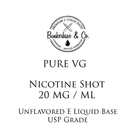 VG Nicotine Shots - 10 x 10ml / 20 mg
