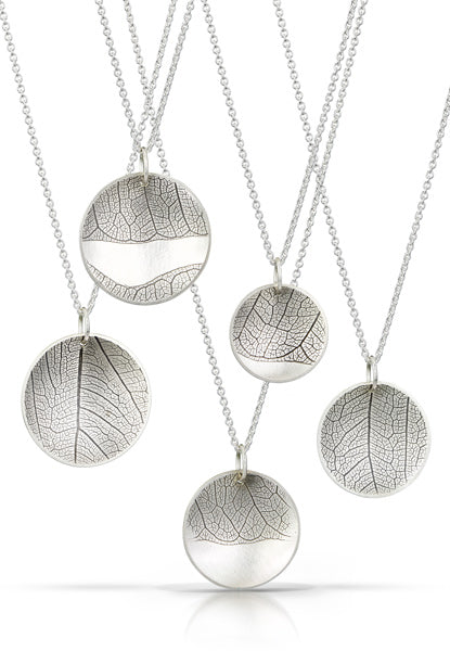 Leaf and Sky Necklace