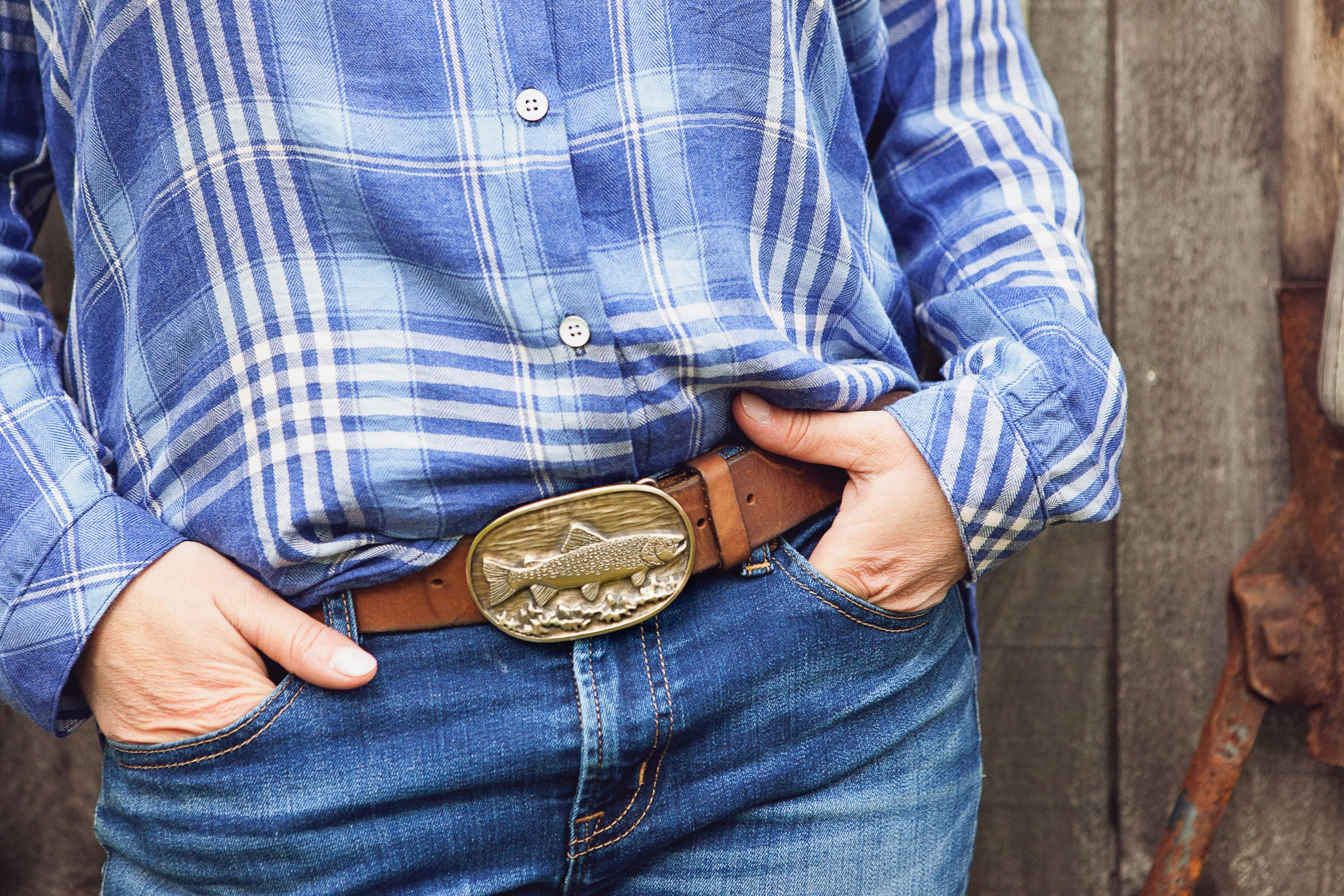 Brown Trout Belt Buckle