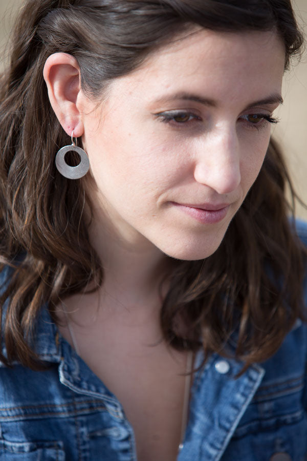 Leaf Earrings with Cut-out