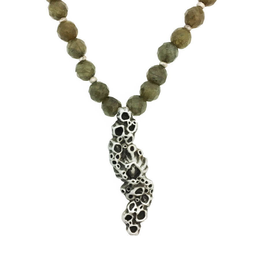 Long Barnacle Necklace with Labradorite