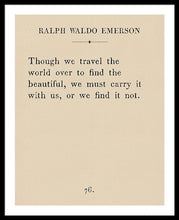 Load image into Gallery viewer, Emerson Travel Quote - Framed Print
