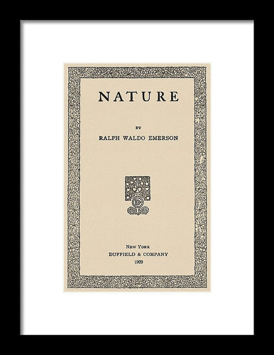 Emerson's Nature Vintage Reproduction Page - Framed Print