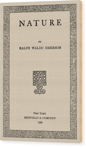 Emerson's Nature Vintage Reproduction Page - Wood Print