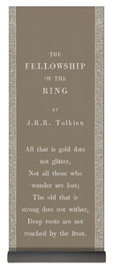 Fellowship Of The Ring- Tolkien- Chai Tea Brown - Yoga Mat