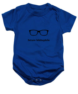 Future Bibliophile with Superman Glasses - Baby Onesie
