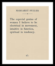 Load image into Gallery viewer, Margaret Fuller- The Genius Of Women - Framed Print