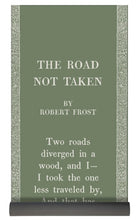 Load image into Gallery viewer, Robert Frost - The Road Not Taken - Sage Green - Yoga Mat