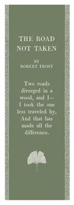 Robert Frost - The Road Not Taken - Sage Green - Yoga Mat