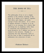 Load image into Gallery viewer, The Book Of Tea - Vintage Book Page - Framed Print