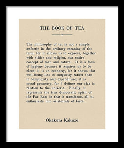 The Book Of Tea - Vintage Book Page - Framed Print