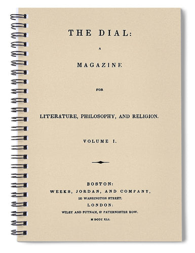 The Dial Reproduction Vintage Print - Spiral Notebook