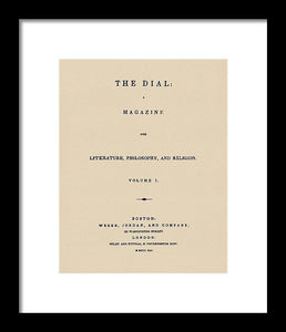 The Dial Reproduction Vintage Print - Framed Print