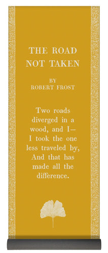The Road Not Taken- Frost- Tumeric Yellow - Yoga Mat