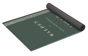 Thoreau- Walden- Dark Sage - Yoga Mat
