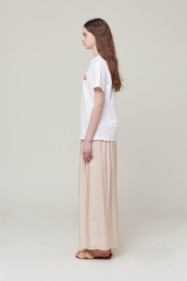 B-Material Wide Silky Pants