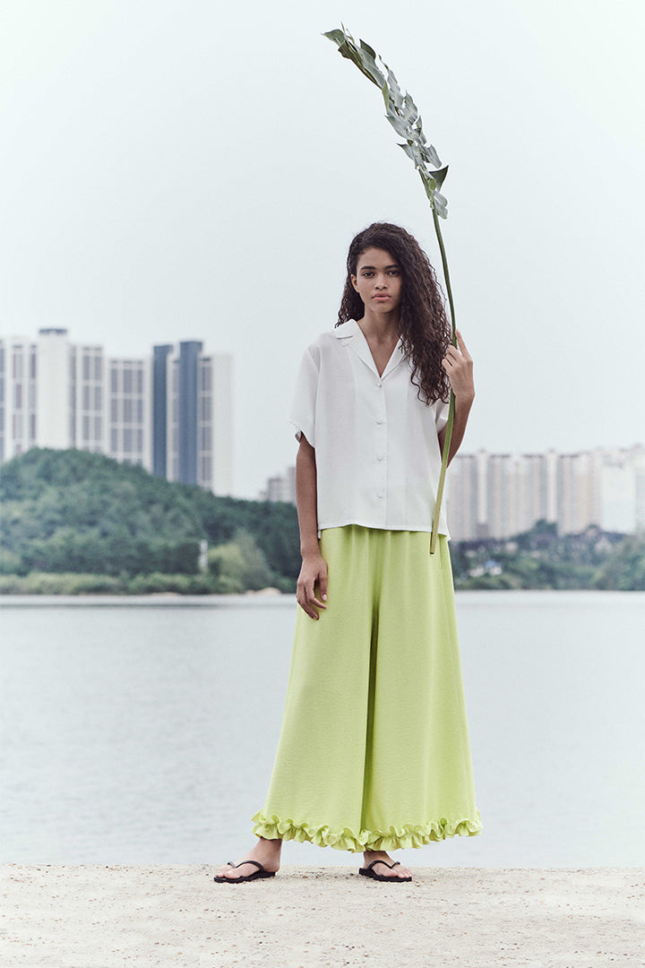 Neul - Frilled Comfy Wide Pants