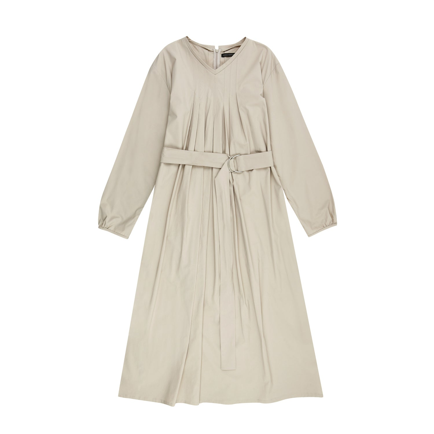 V-neck dress - Beige