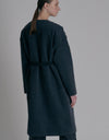 Black denim coat - Black
