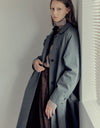 Simple belted trench coat
