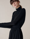 Long sleeves turtleneck top